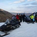 Groupe de la randonnée en Ski-Doo