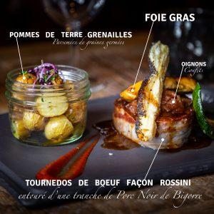 Description Tournedos de Boeuf façon Rossini de Nicolas Aubiban, La Grange, Saint-Lary Soulan