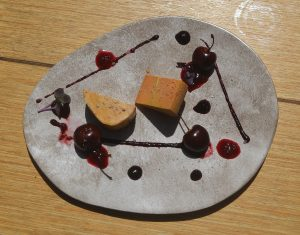 Foie gras, Tonka et cerises