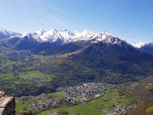 vue panoramique Haute Vallée d'Aure neige